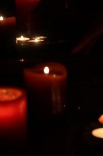As velas ardiam nos teus olhos