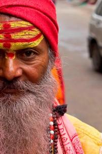 A Índia e as marcas na testa